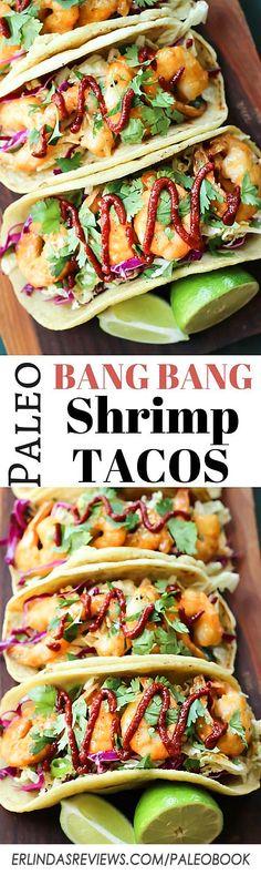 Paleo Bang Bang Shrimp Tacos This recipe tastes JUST like the real thing! https wickedspatula.
