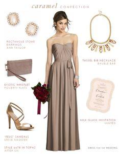 Taupe Bridesmaid Dress Inspire Bridal Boutique www.inspirebridalboutique.com Inspire attire and event design