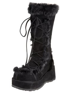 8dadacd3d199 Black Cubby Boots   Pleaser and Demonia GoGo Boots from RaveReady! Black  Platform Boots