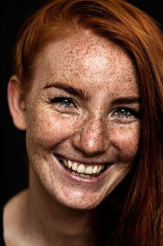 "A freckled portrait from the coffee table book ""we are freckled"" by the swedish photographer Jonas Carmhagen who is fascinated by freckles and people behind them. Beautiful Freckles, Beautiful Red Hair, Gorgeous Redhead, Redheads Freckles, Freckles Girl, People With Red Hair, Red Hair Woman, Red Hair Female, Fair Complexion"