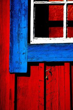 red white and blue ✿ beautiful old wood