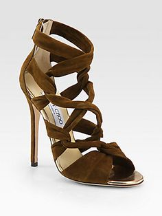 Jimmy Choo Kemble Knotted Suede Sandals