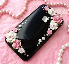 How to rose phone case Rose Phone Case, Decoden Phone Case, Kawaii Phone Case, Girly Phone Cases, Cell Phone Covers, Diy Phone Case, Iphone Phone Cases, Cellphone Case, Diy Coque