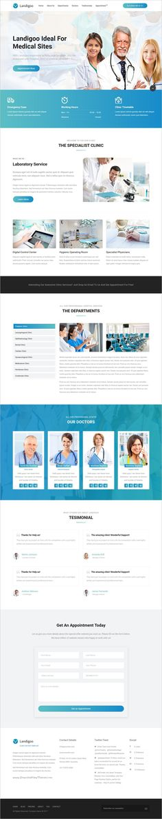 The Landioo is a creative responsive 10in1 #WordPress theme for #medical service #landing pages websites, coded with flex framework download now➩  https://themeforest.net/item/landigoo-multipurpose-single-page-creative-wp-theme/19167944?ref=Datasata