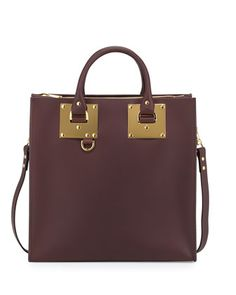 Albion Large Square Tote Bag, Oxblood by Sophie Hulme at Neiman Marcus.  Brown Leather 9a9f1d3ea6