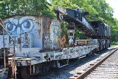 Eden  Industrial Brownhoist 11970 250 tons Wrecker Steam 1949 Pennsylvania RR #490905 Penn Central #50205 Conrail # 50205 to #45218 (gone by 12-1986) --- USA