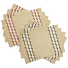 Sur La Table Farmhouse Stripe Placemats, Set of 4 | Sur La Table
