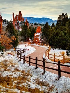Garden of the Gods, Colorado Springs.  I want to see this in Summer, Winter, Spring and Fall.....