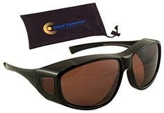 86f632b9c3 Sun Shield Fit Over Sunglasses with Blue Blocker HD Driving Lens Wear Over  Prescription Glasses Large Black Frame with Case     Read more reviews of  the ...