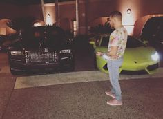 Connor McGregor shows off his Lamborghini Aventador as he baits Floyd Mayweather