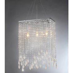 Shop for Purcelll Crystal 3-light Chrome Chandelier. Get free shipping at Overstock.com - Your Online Home Decor Outlet Store! Get 5% in rewards with Club O!