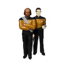 Star Trek TNG Worf and Data Salt and Pepper Shaker Set