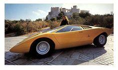 Sketchbook historic cars Pictures: An italian masterpiece - Lamborghini Countach - Prototipo 1971 - Designer Marcello Gandini per la Carrozzeria Bertone