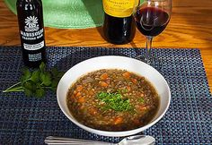 I found the Spanish Lentil Soup recipe Spanish Table Website years ago and have tweaked it over the years. Spanish lentil soup is a hearty meal & perfect for a cold winter night. via @winetravelers
