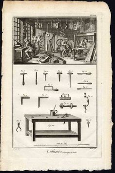 Lutherie Shop And Tools - Denis Diderot