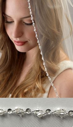 Lily Pearl Beaded Bridal Veil – Famous Last Words Veil Diy, Diy Wedding Veil, Hand Embroidery Dress, Floral Headpiece, Wedding Hair Accessories, Bridal Headpieces, Bridal Jewelry, Marie, Wedding Hairstyles