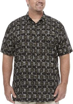 THE FOUNDRY SUPPLY CO. The Foundry Big & Tall Supply Co. Button-Front Shirt-Big and Tall Mens Big And Tall, Big & Tall, Button Down Shirt, Men Casual, Buttons, Mens Tops, Shirts, Fashion, Moda