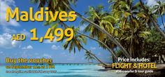 Flight And Hotel, Dubai Uae, Travel Deals, Maldives, Tourism, Star, Breakfast, The Maldives, Turismo