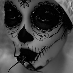 lifeisthefight: SourceMore edits here. Mexico Day Of The Dead, Sugar Skull, Halloween Face Makeup, Dress Up, Tumblr, Beauty, Gothic Art, Spiders, Times