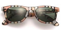 Ray Ban RB 2140 Original Wayfarer Rare Prints Lens Green Pattern Sunglasses   e3aee68d74