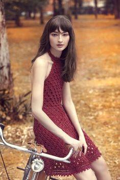 Vanessa Montoro Inverno 2015 | Moda em Crochê. Vestido de crochê. Crochet dress, fashion