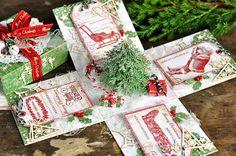 cynkowe poletko: świąteczny exploding box