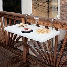 Jardin terrasse on pinterest balconies barbecue and - Table escamotable balcon ...