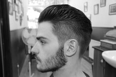 hair style created by using The Legends London Hair Gel #modern pompadour