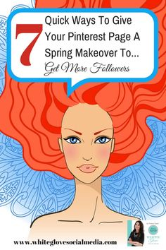 #PinterestConsultant Shares 7 QUICK WAYS TO GIVE YOUR PINTEREST PAGE A SPRING MAKEOVER (TO GET MORE FOLLOWERS) CLICK HERE to see how to give your Pinterest page a boost http://www.whiteglovesocialmedia.com/pinterest-consultant-7-quick-ways-give-pinterest-page-spring-makeover-get-followers/ #PinterestCourse #PinterestForBusiness
