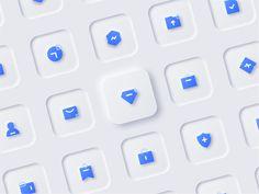 Skeuomorphic icon by on Dribbble Flat Design Icons, App Ui Design, Mobile App Design, Graphic Design Branding, Interface Design, Icon Design, Page Design, Mobile Ui, Design Design