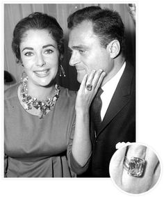 The Biggest Celebrity Engagement Rings! - Elizabeth Taylor and Michael Todd from #InStyle