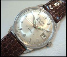 Blova BULOVA[bl014]希少本物 デイト付きアンティークウォッチ 自刀c 時計 Watch Antique ¥68000yen 〆05月28日