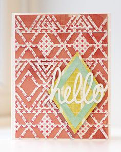 Geometric Pattern Card | Kalyn Kepner for Silhouette
