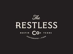 Vintage Graphic Design The Restless Co. by Steve Wolf - While starting a new project it's always a good idea to do some proper research to get the creative juices flowing and to stay updated with the latest design trends within a specific field. Logo Branding, 2 Logo, Corporate Branding, Logo Inspiration, Brand Identity Design, Branding Design, Hangtag Design, Pizza Y Vino, Visual Identity