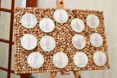 cork board seating plan, an alternative idea for your wedding