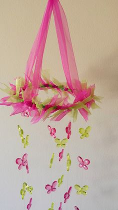 Butterfly Mobile for Girls. Dream catcher. Room decoration on Etsy, $75.00