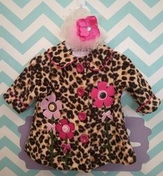 This cheetah and flowered coat is perfect for the sassy girls out there!