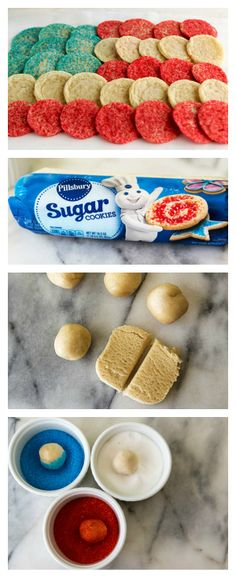 A pull-apart cookie flag dessert that is both sweet and simple!