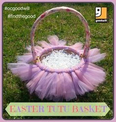 This beautiful Easter baskets will delight the princess in your life. See how easy it is to make, using  a basket we found at one of our favorite Goodwill of Orange County stores..... Read more.