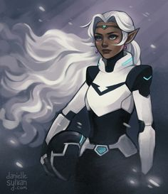 I'm not really wanting Allura to be the paladin of the black lion ('cause obviously I don't want Shiro dead, ekhem) but I find this fanart pretty cool