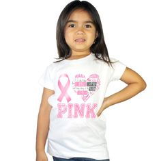 I Love Pink Breast Cancer Awareness kids shirt by shirtsbynany on Etsy Funny Kids Shirts, Shirts For Girls, Aunt Shirts, Go For It, Long Sleeve Bodysuit, Breast Cancer Awareness, Baby Bodysuit, Workout Shirts, Cute Girls