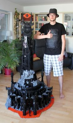 6' tower of Barad-Dur (The eye of Sauron)- made of LEGOS!