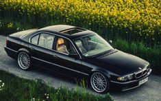 Download imagens BMW 7-série, 4k, 740iA, postura, E38, ajuste, preto e38, BMW