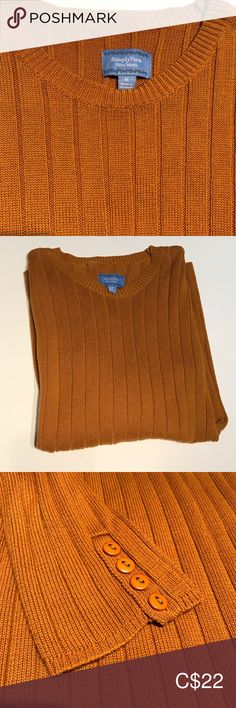 SimplyVera Vera Wang Burnt Orange Crewneck Sweater Excellent Preowned Condition Cute for the Fall 🍂 Crewneck Sweater, Men Sweater, Plus Fashion, Fashion Tips, Fashion Trends, Simply Vera, Vera Wang, Burnt Orange, Orange Color