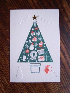 【ワークショップ紹介】つる9テン×真映社×MOUNTAIN BOOK DESIGN 「箔押しとエンボスと活版印刷のクリスマスカード作り」 Christmas Images, Christmas 2016, Christmas Cards, Xmas, Christmas Tree, Happy A, Tree Illustration, Banner, Greeting Cards