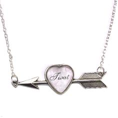 Twat Heart And Arrow Necklace - Sour Cherry | Quirky & Kitsch Jewellery & Accessories