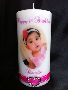 Personalised Candle - Baby birthday