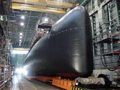 Tramo final de la gran carena del submarino español S-74 Tramontana