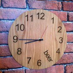 Laser etched oak Beer O'Clock #TGIF #Friday #BeerOClock