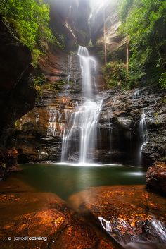 Empress Falls, Valley of the Waters, Blue Mountains, New South Wales, Australia; photo by Jarrod Castaing